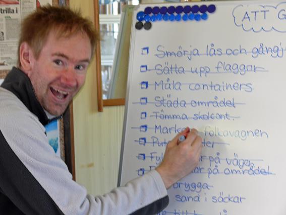 2008 Petter stryker stolt på listan att han hittat folkavagnen - 2008